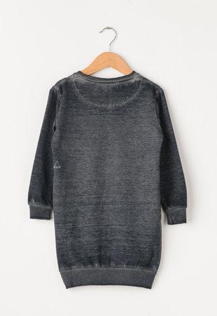 Rochie tip bluza sport negru melange