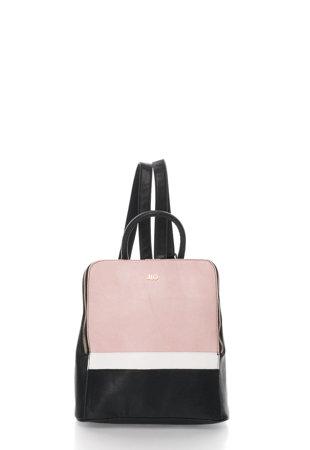 Rucsac colorblock negru cu roz
