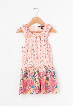 Rochie multicolora cu imprimeu floral