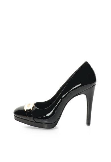 Pantofi negri din piele lacuita de la John Galliano