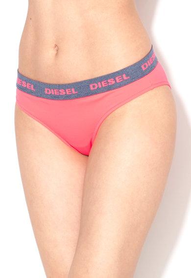 Slip fucsia cu model cu logo Angels de la Diesel
