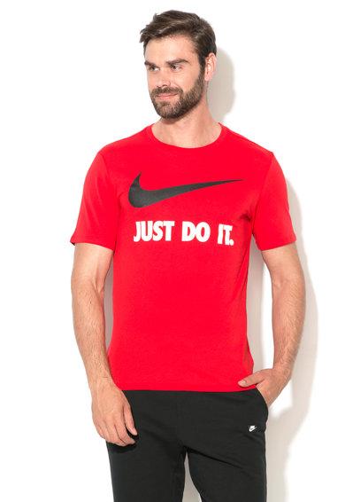 Tricou rosu cu imprimeu logo