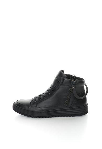 Pantofi sport mid-high negri de piele de la Bullboxer