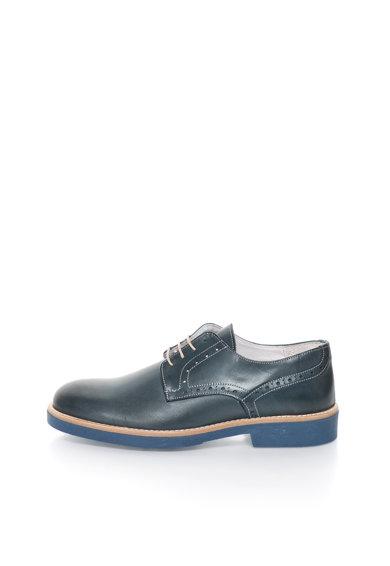 Pantofi brogue albastru petrol de piele de la Zee Lane
