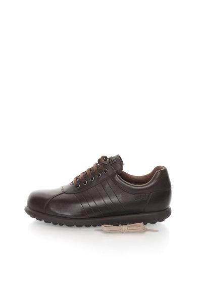 Pantofi casual maro inchis de piele Pelotas