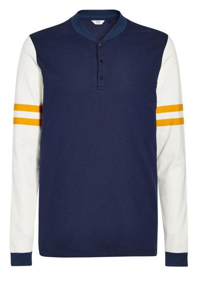 Bluza tip tunica slim fit albastru inchi de la NEXT