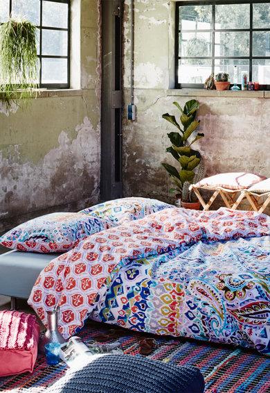 Set de pat multicolor cu imprimeu abstract Festo de la Covers  Co