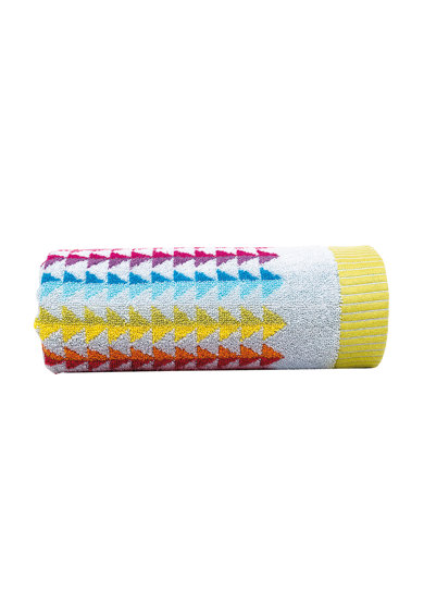 Prosop multicolor cu model geometric
