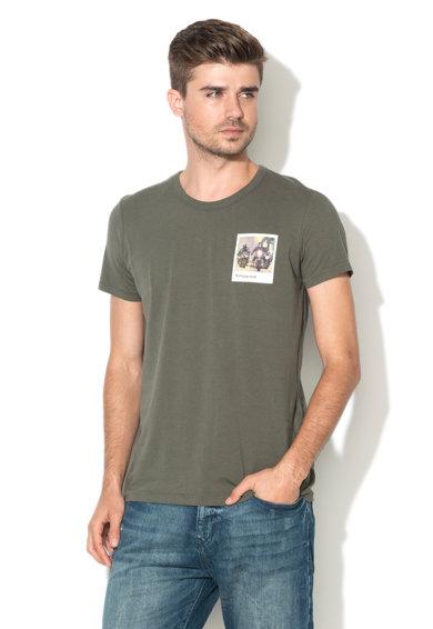 Tricou regular fit verde militar inchi de la Esprit
