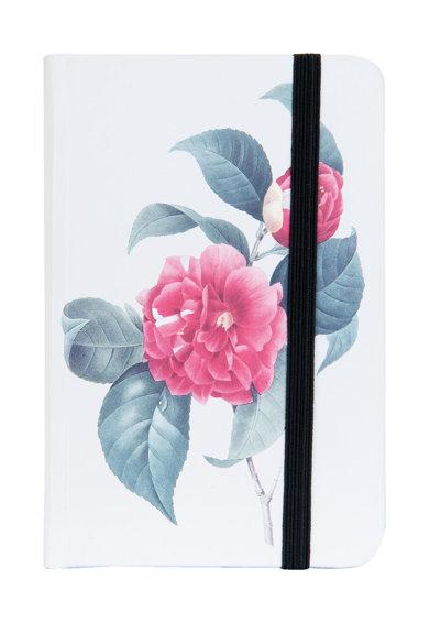 Carnetel alb si roz cu model floral de la Clayre  Eef