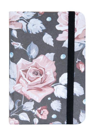 Carnetel gri inchis si roz deschis cu trandafiri de la Clayre  Eef