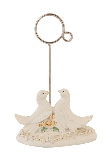 Portcart alb fildes cu design pasare de la Clayre  Eef