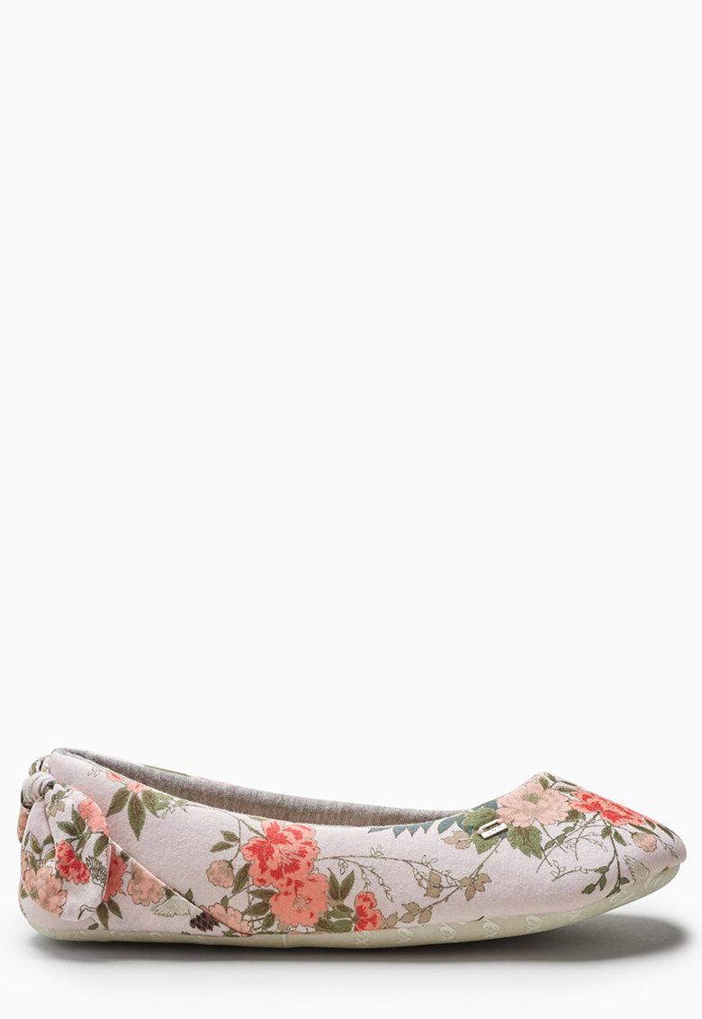 Papuci cu varf rotund si funda pe partea din spate de la NEXT