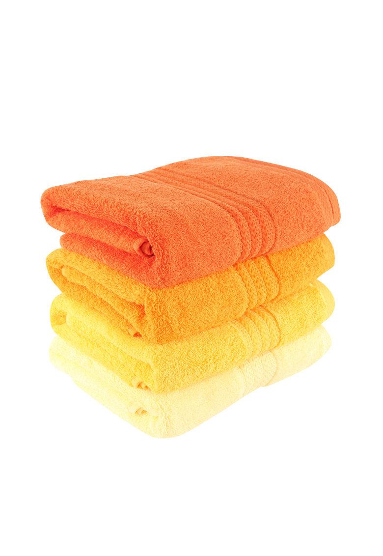 Hobby Set 4 prosoape  Rainbow Yellow – 100% bumbac – 50×90 cm