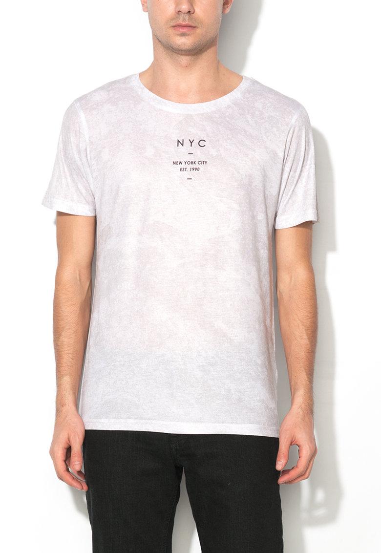 Tricou gri cu imprimeu logo