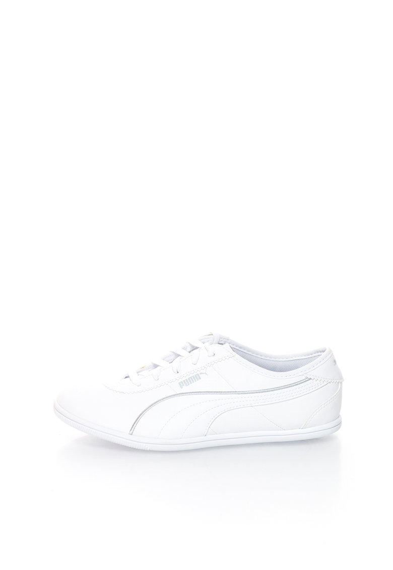Puma Pantofi sport albi Whitley