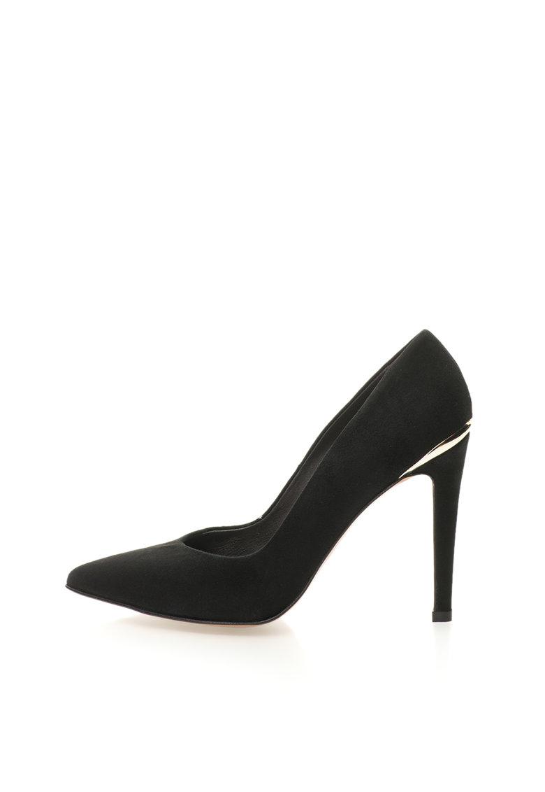 Roberto Botella Pantofi stiletto negri de piele intoarsa