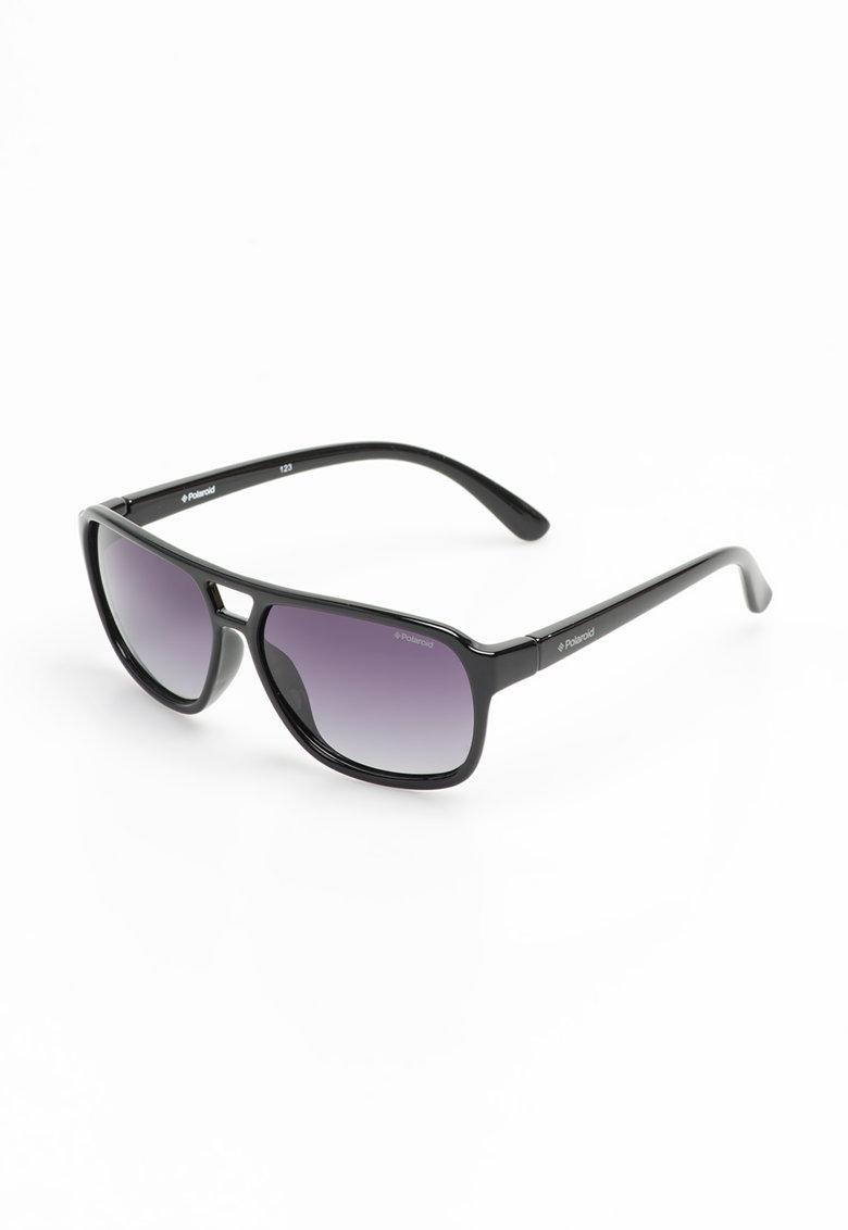 Ochelari de soare negri cu lentile polarizate