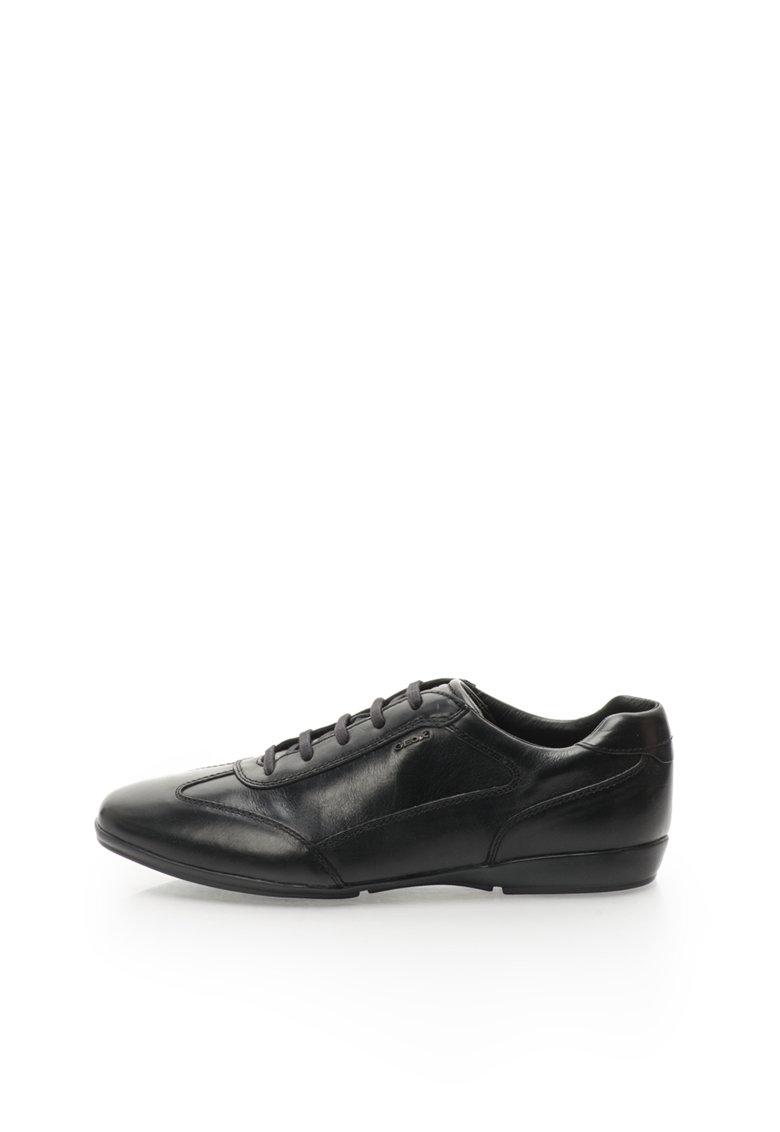 Geox Pantofi casual negri de piele Efrem