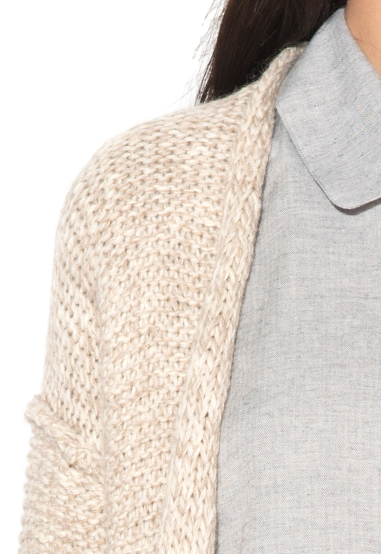 Big Star Cardigan grej tricotat fara inchidere Ulema