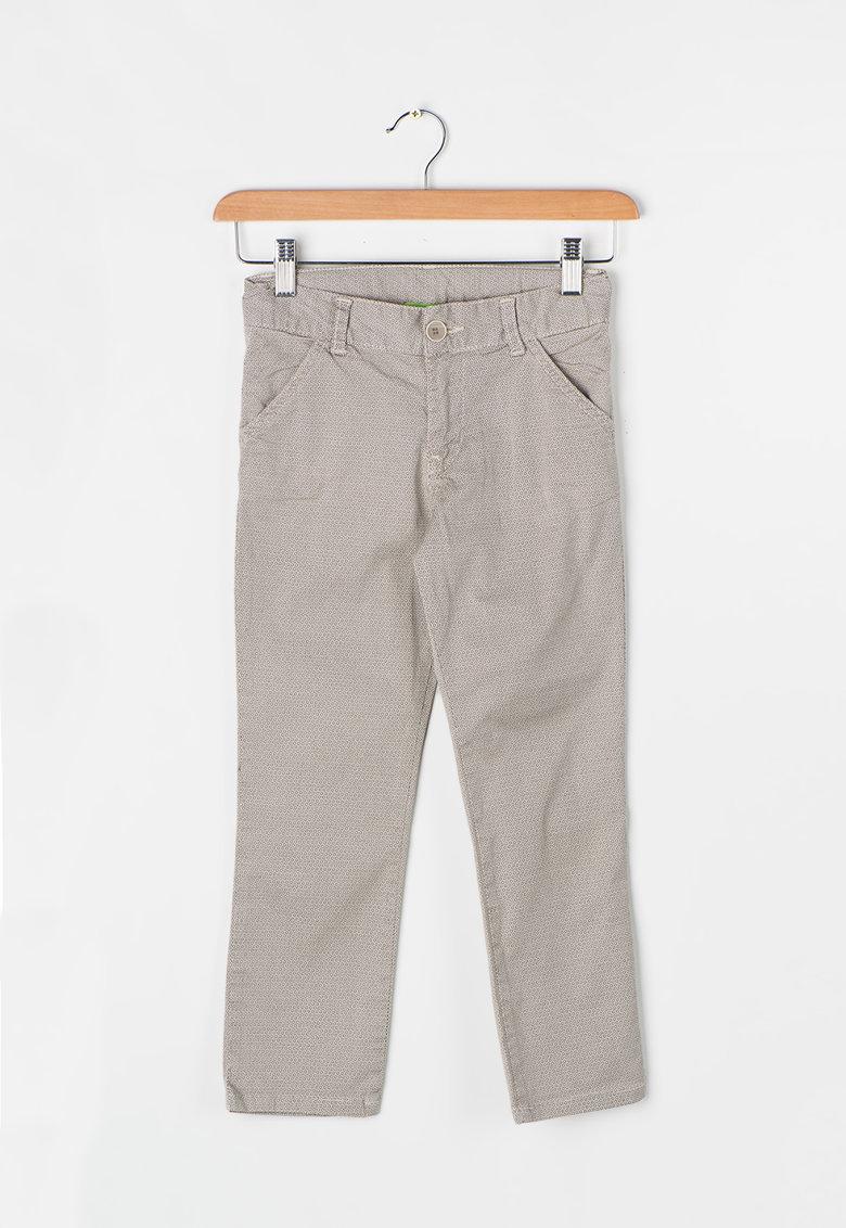 Zee Lane Kids Pantaloni bej cu model discret