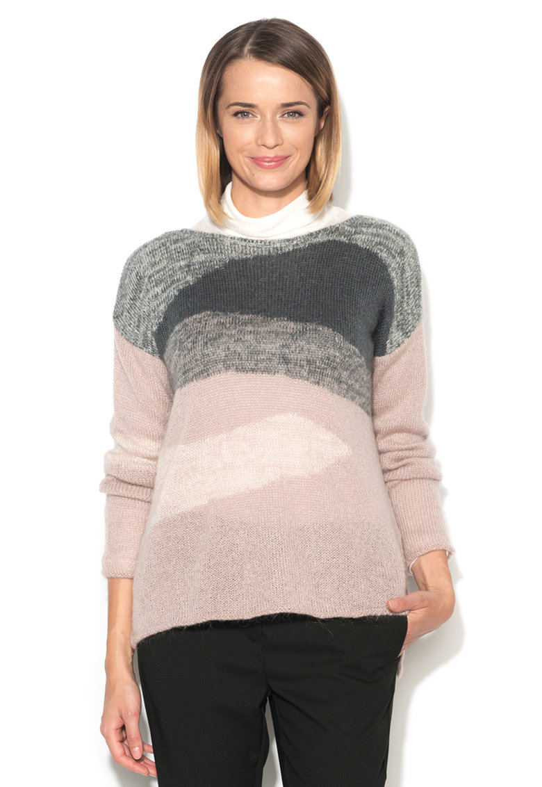 Pulover lejer roz pal cu gri de la United Colors of Benetton 1242E1B06-912