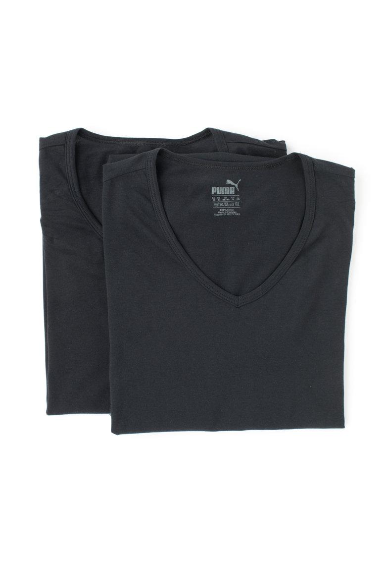 Puma Set de tricouri regular fit negre – 2 piese