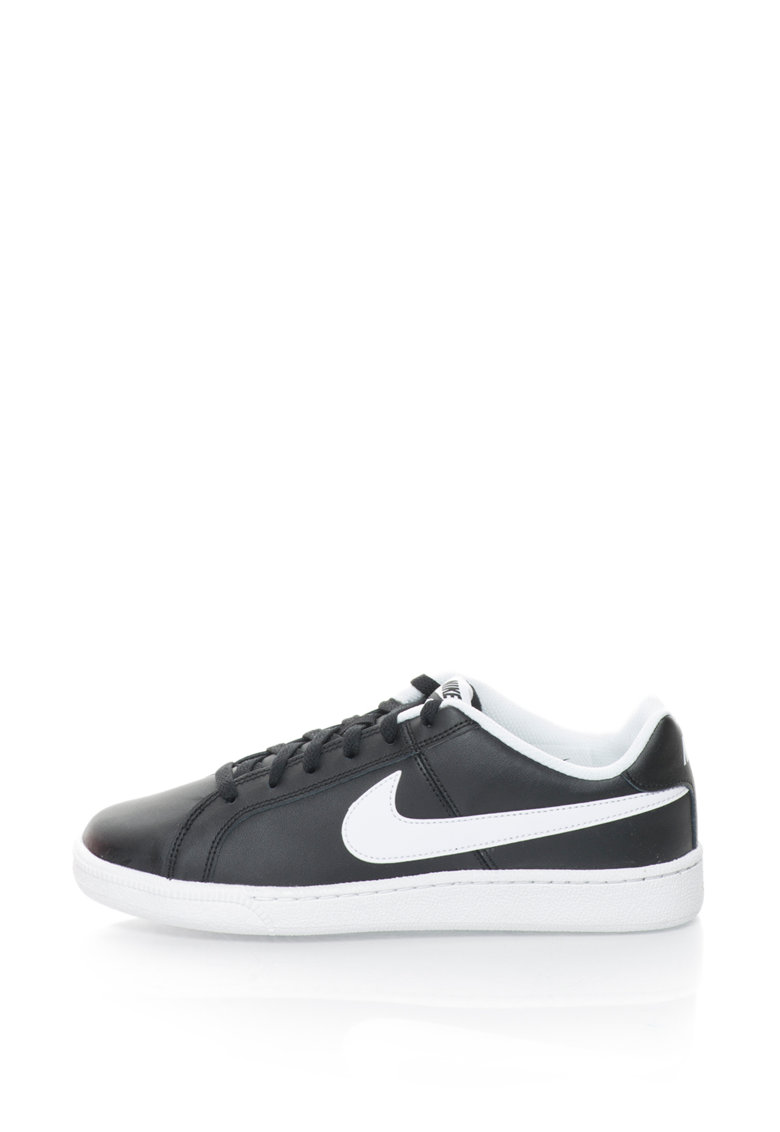 Pantofi sport cu logo si garnituri de piele Court Royal