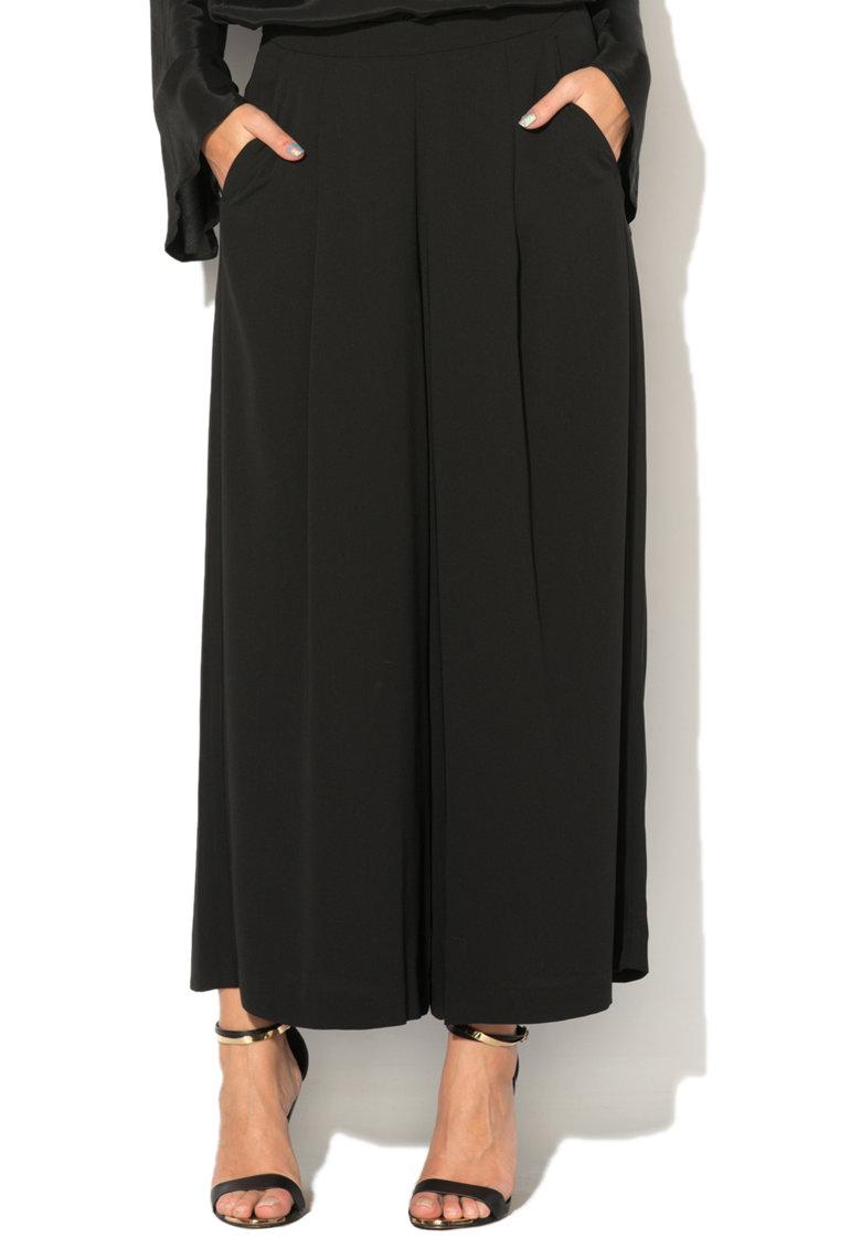 United Colors of Benetton Fusta-pantalon neagra cu buzunare