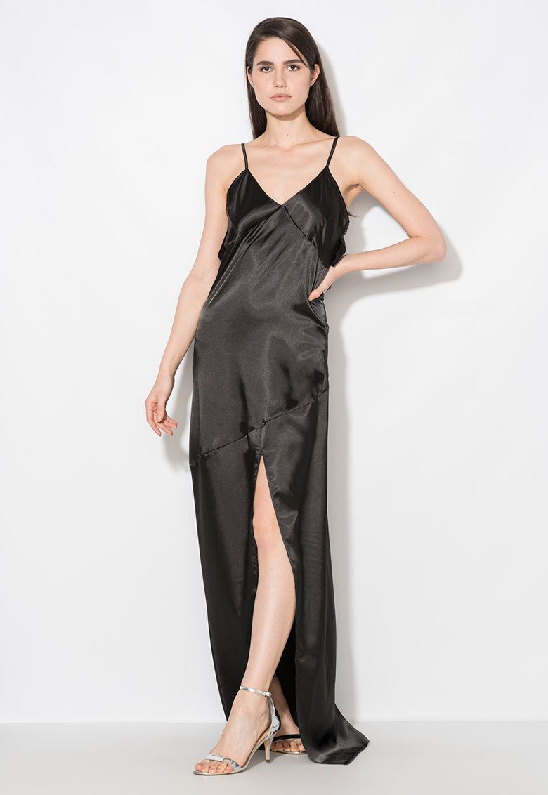 Zee Lane Collection Rochie maxi neagra tip furou