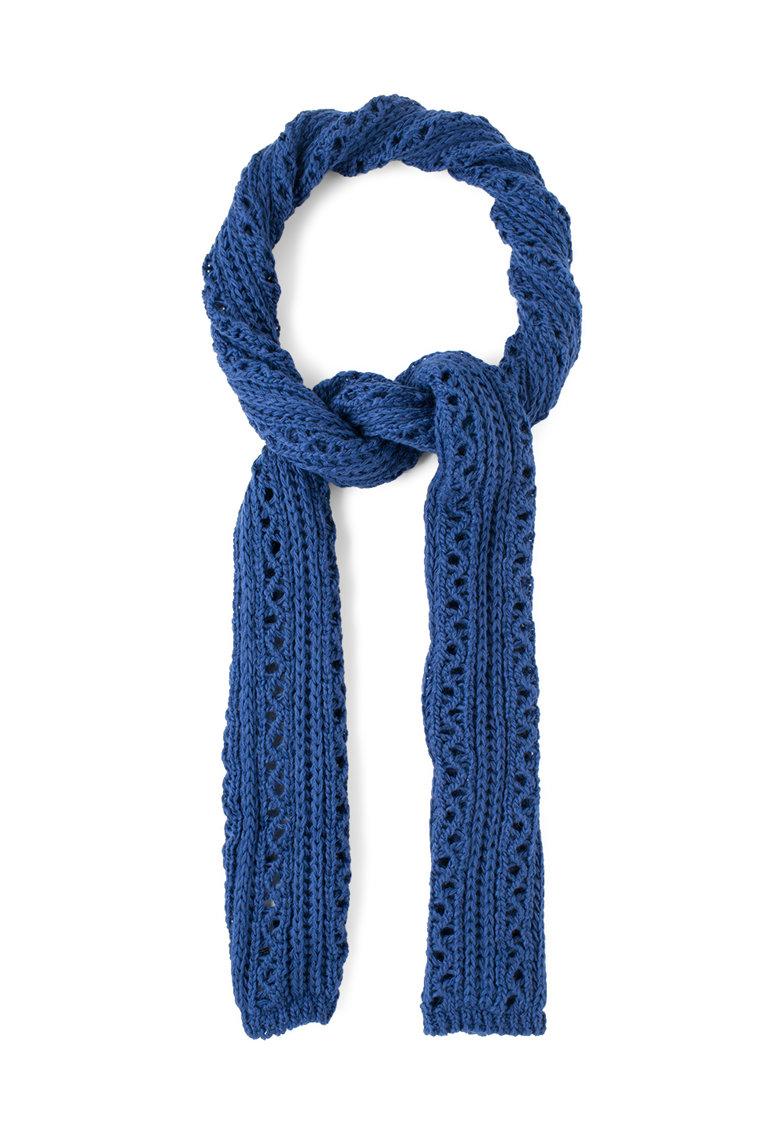 Fular tricotat albastru safir Alodonza de la Big Star