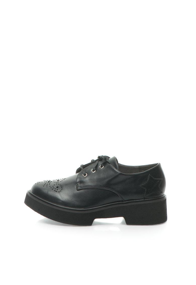 Fiorucci Pantofi negri cu talpa wedge