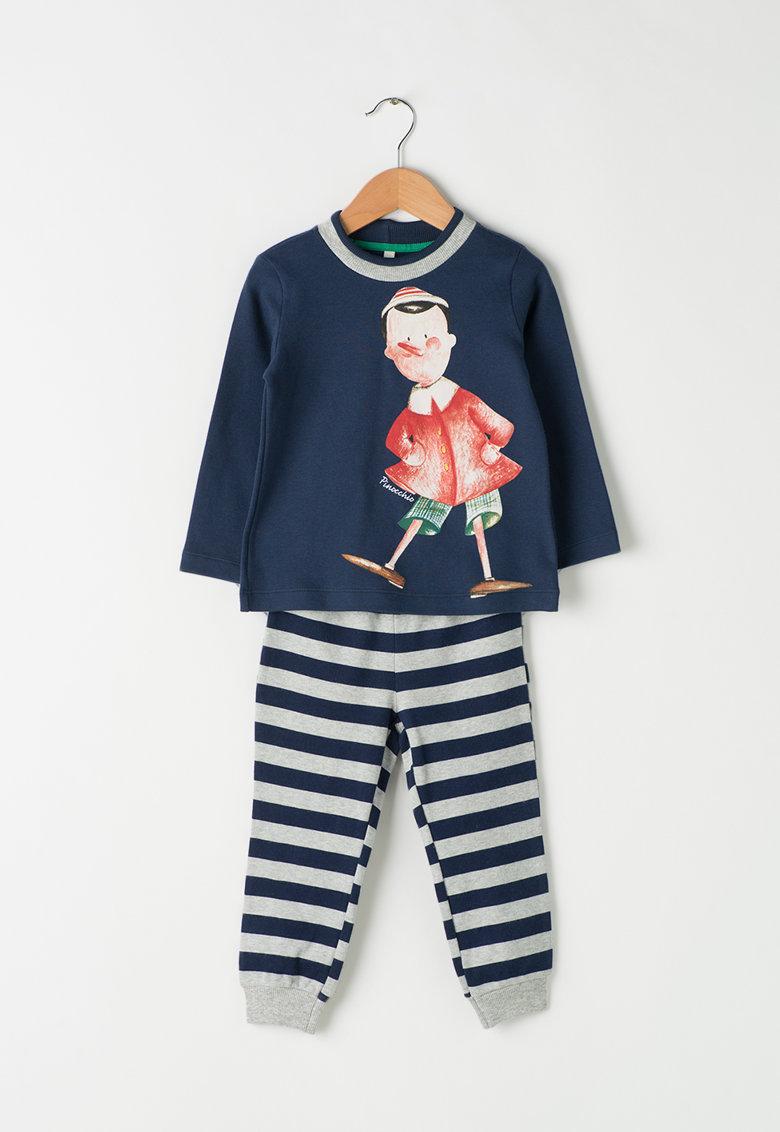 Set de pijama cu imprimeu - bluza si pantaloni