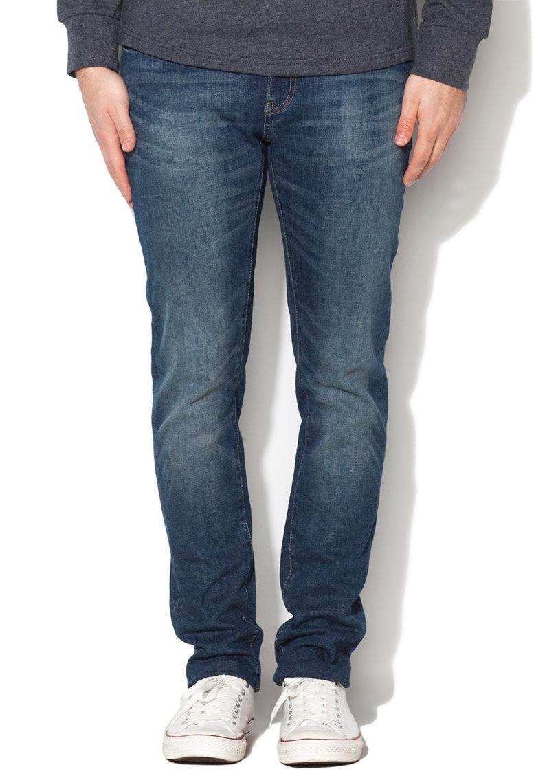 Jeansi conici albastri Nader