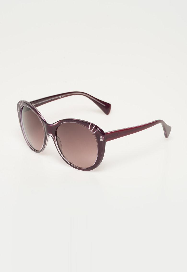 Ochelari de soare violet pruna inchis de la Alexander Mcqueen