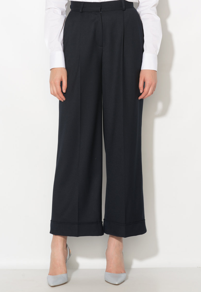 Zee Lane Collection Pantaloni bleumarin cu pliuri frontale