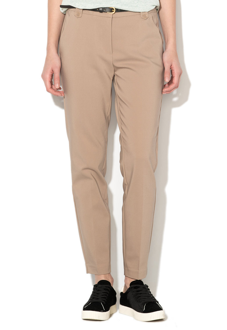 Pantaloni bej conici Newroos