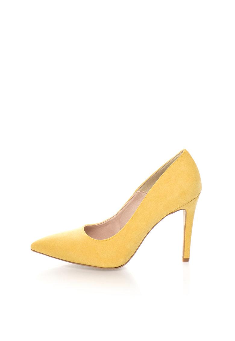 Pantofi galbeni de piele intoarsa sintetica Miriam de la Oakoui