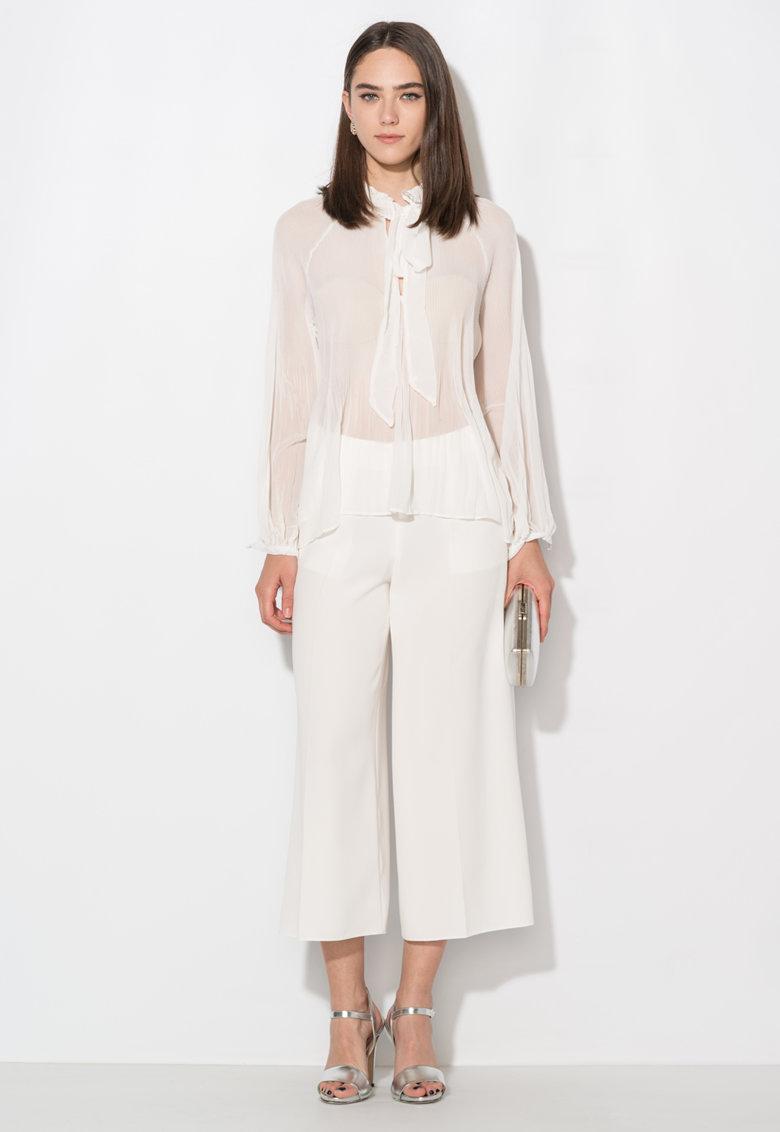 Zee Lane Collection Pantaloni culotte albi cu buzunare