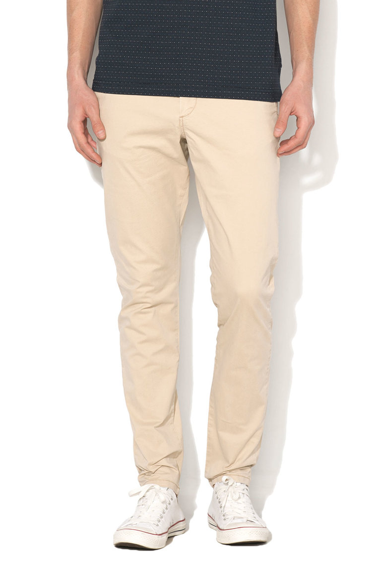 JackJones Pantaloni chino bej deschis slim fit Marco