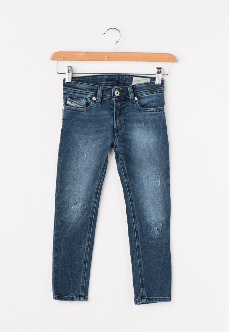 Jeansi skinny slim fit albastri Sleenker