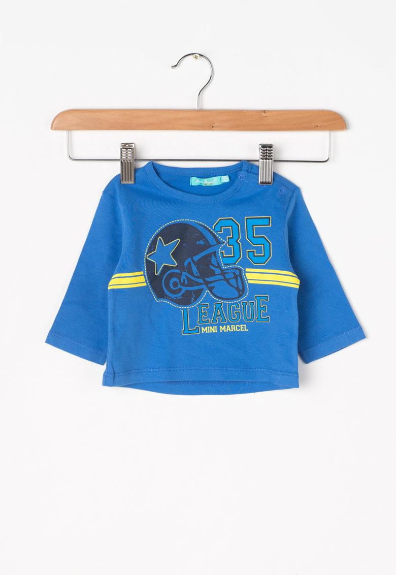 Little Marcel Bluza albastra cu imprimeu Tissol