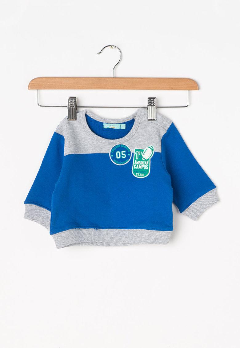 Little Marcel Bluza sport albastru cu gri melange Somilo