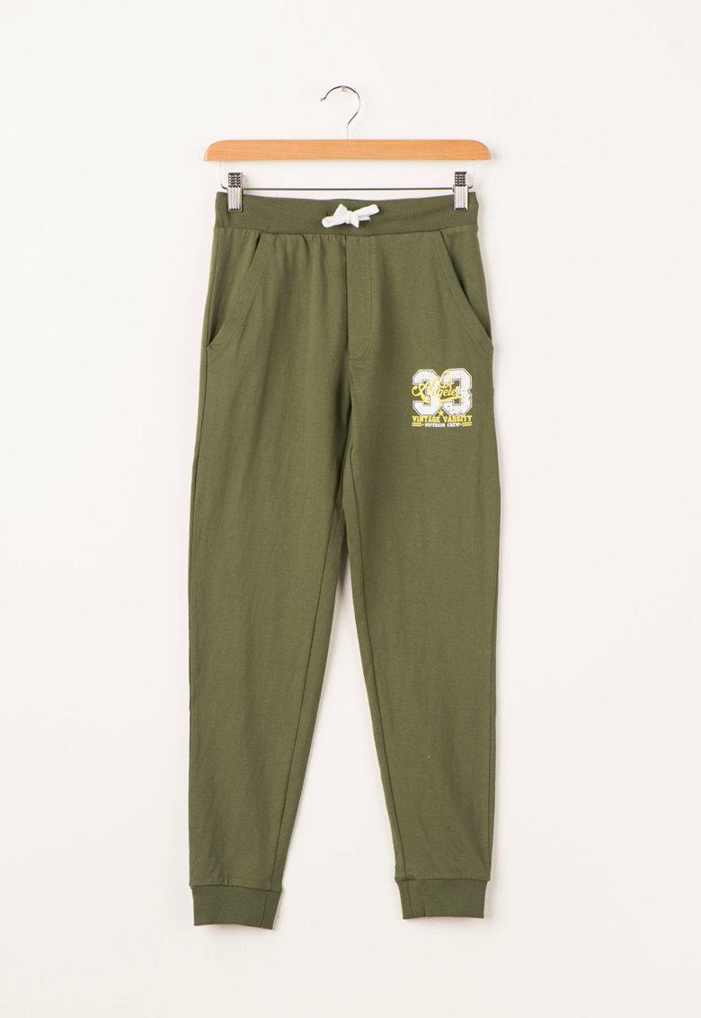 Zee Lane Kids Pantaloni sport verde oliv inchis cu snur inserat