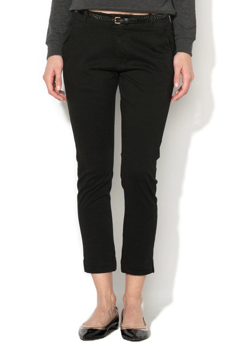 Alcott Pantaloni chino negri cu o curea