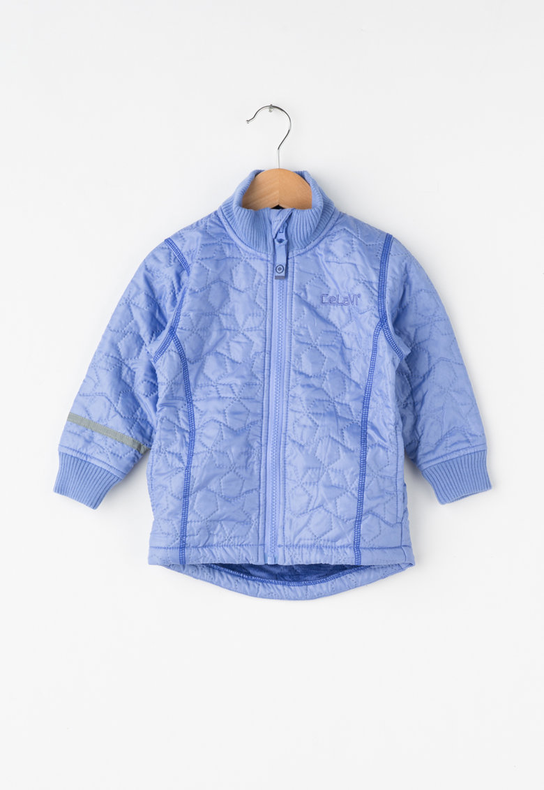 Jacheta matlasata lila cu fermoar de la CeLaVi
