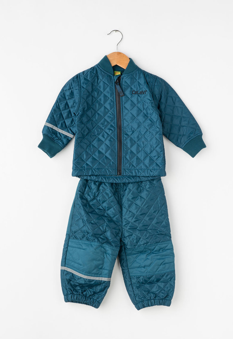 CeLaVi Set albastru petrol de jacheta si pantaloni matlasati