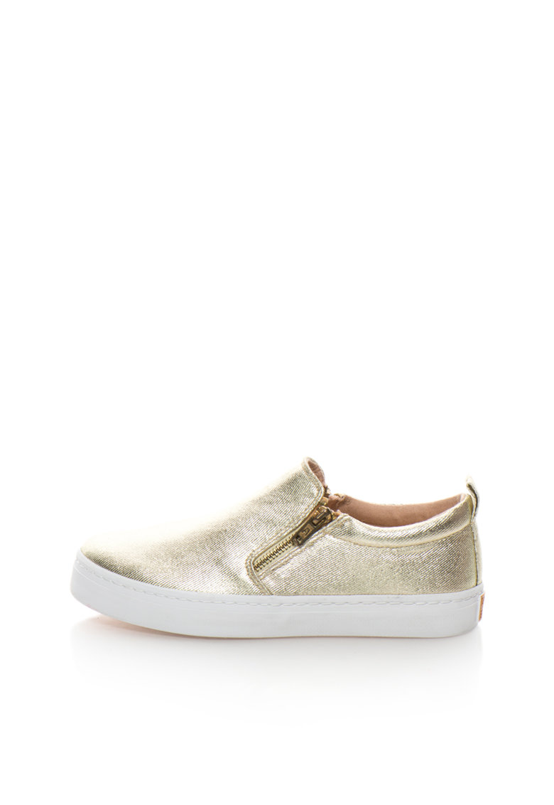 Gioseppo Pantofi slip-on aurii