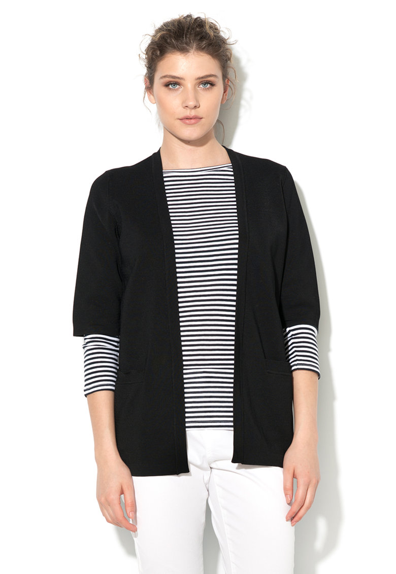 United Colors Of Benetton Cardigan negru fara inchidere