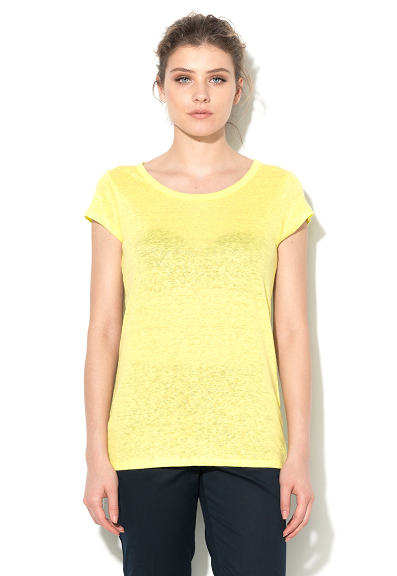 United Colors Of Benetton Tricou galben chartreuse de in